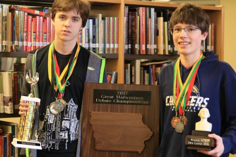Holman and Weiss Win Debate Tournament at West High