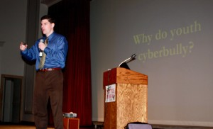 Got Internet Reputation?  Dr. Patchin speaks to freshmen about cyberbullying
