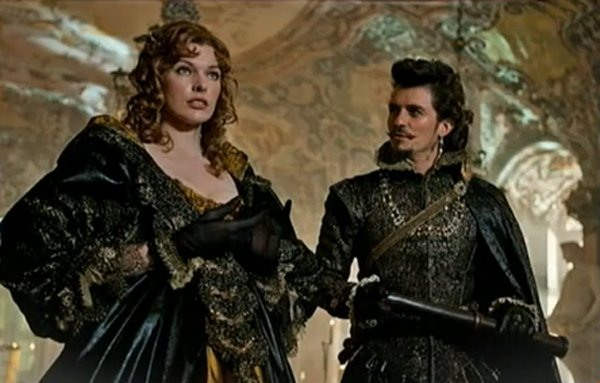 Image result for orlando bloom and milla jovovich the three musketeers
