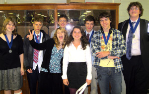 The debate team at their last competiton. Photo by Keiran Green.