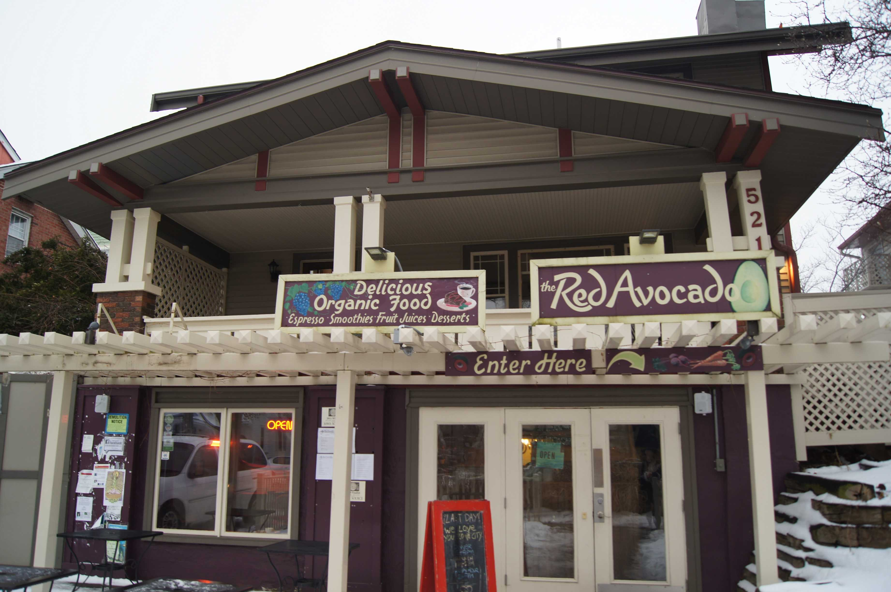 The Red Avocado stands on its last day open, Sunday January 22nd, 2012
