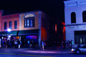 Downtown Iowa City on a Friday night
