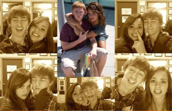 Sam Buatti '13 and Kara Hartley's '13 photo entry in the Cutest Couple Contest.