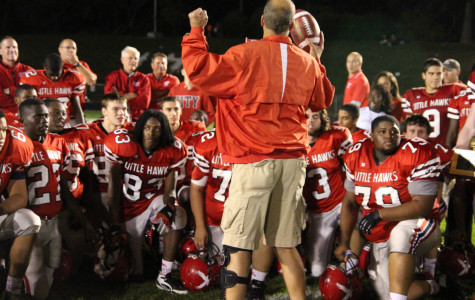 Dan Sabers talks to his team after their victory over Iowa City West. Photo by Kierra Zapf