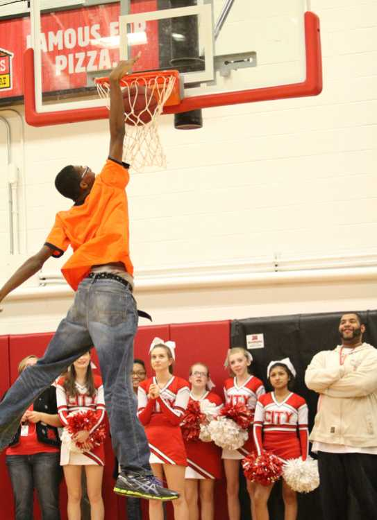 At the winter spirit assembly makes the dunk that inspired the Air Angelo t-shirts.