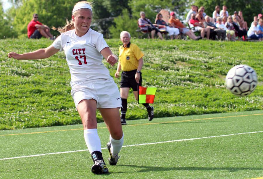 Girls Soccer battles Iowa Valley
