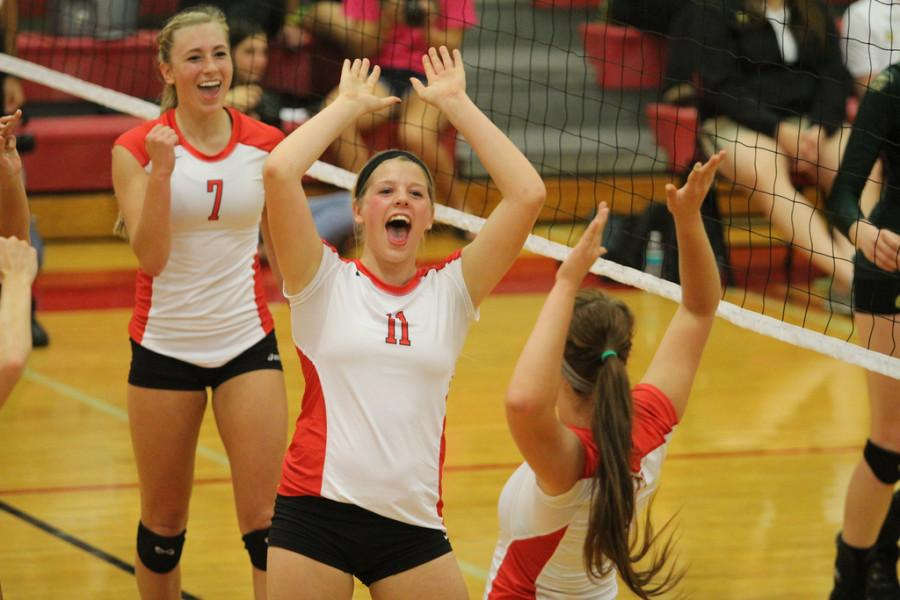 Rylee Price 15 celebrates after a come from behind win!