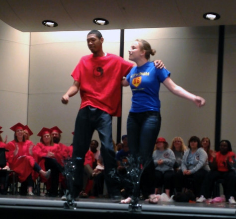 Elise Goodvin '15 and Cornell Stringer '15 perform Hakuna Matata