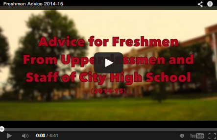 Upperclassmen and Staff Share Advice for Freshmen
