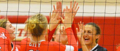 City Volleyball Remains Undefeated in Conference Play