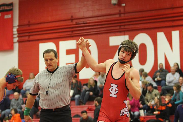 Nick Jarvis wins his match with a pin in under two minutes.
