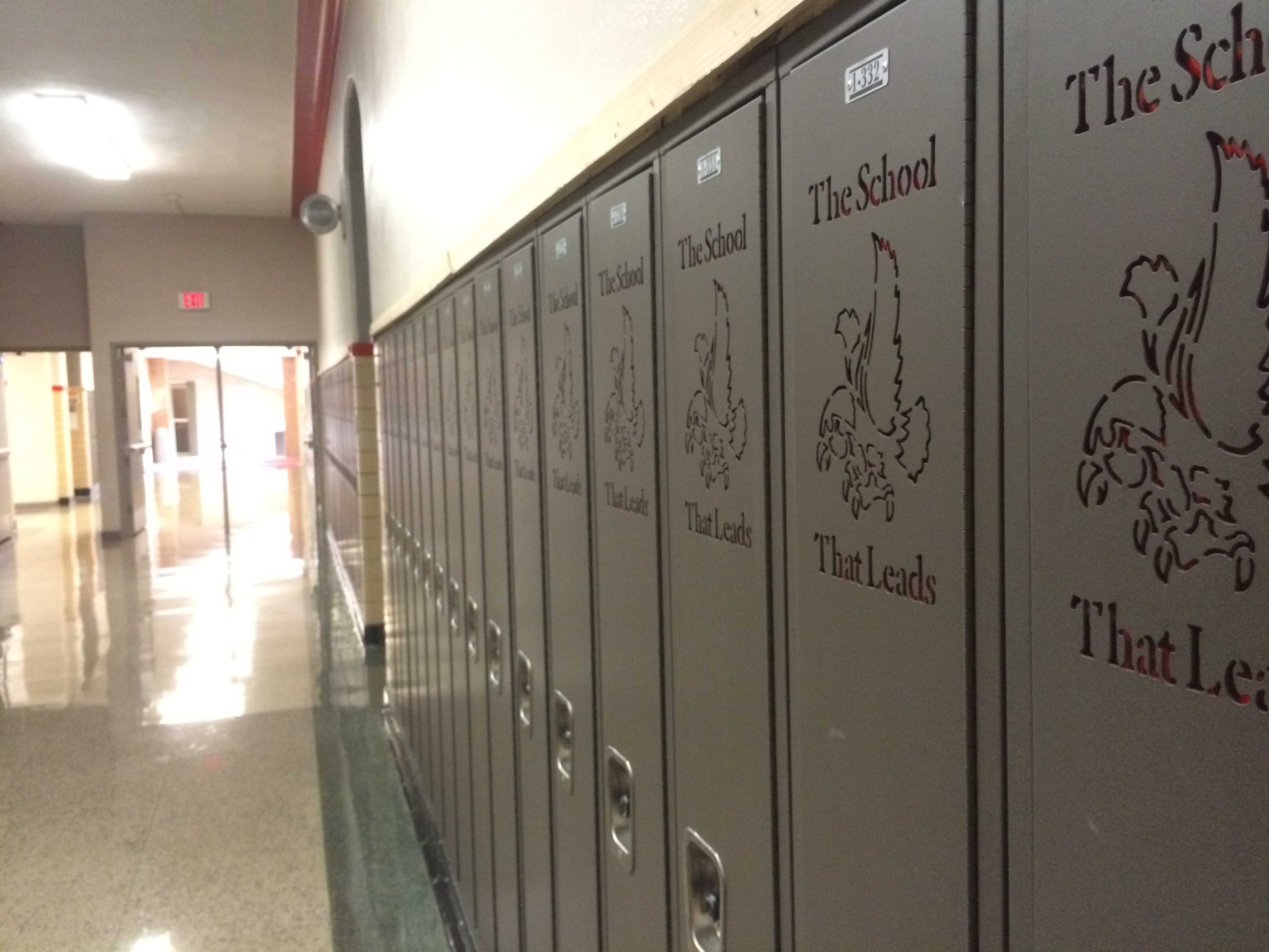 New lockers, chosen by Scott Jesperson, Assistant Principal, have been installed on the first floor