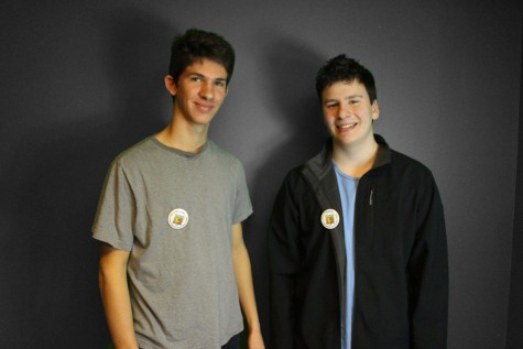 Rasmus Schlutter '17 and Joey Wideman '16 both support Best Buddies.