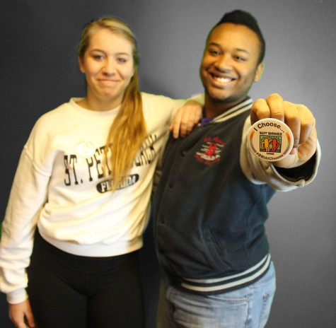 Gracie Steve '15 and BJ Sullivan '15 support the cause not to use the R-word.