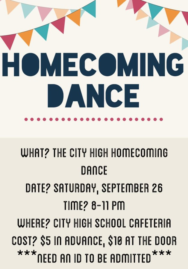 Information about the upcoming 2015 Homecoming Dance