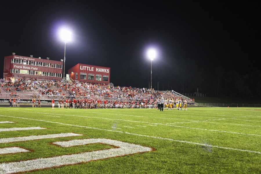 Bates Field during the game.