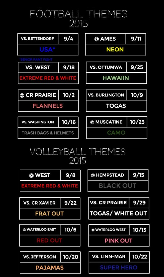 2015 Football and Volleyball Themes Released