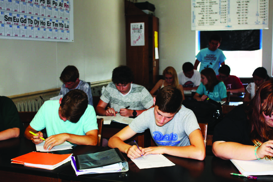 Students use advisory time to complete schoolwork