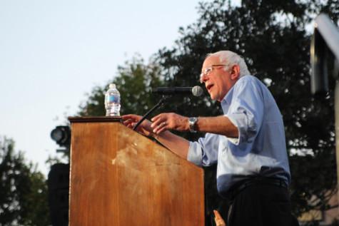 Bernie Sanders speaks at Coe College.