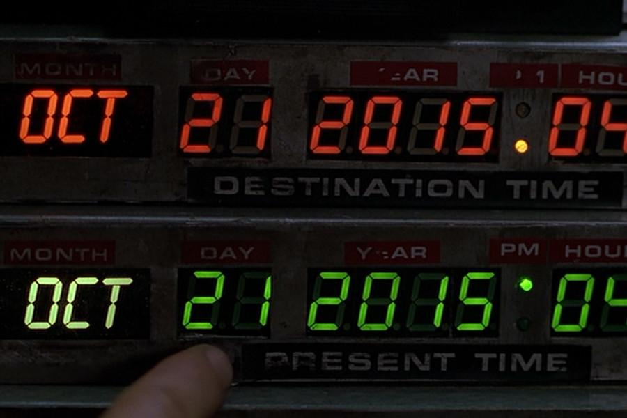 Back+to+the+Future+Part+II+is+a+1989+screenplay+written+by+Robert+Zemeckis+and+Bob+Gale+with+main+characters+Marty+McFly+%28Michael+J.+Fox%29+and+Doc+Brown+%28Christopher+Lloyd%29+where+the+duo+have+to+go+to+the+future+date+of+October+21%2C+2015+from+1985.