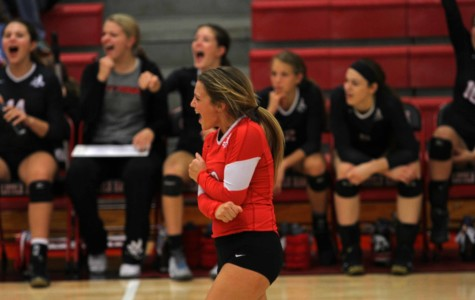 Ellie Dixon '17 couldn't contain her excitement following her point scored.