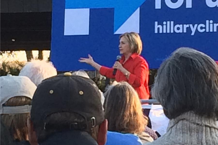 Hillary+Clinton+speaks+in+Coralville+in+November+on+her+presidential+campaign.
