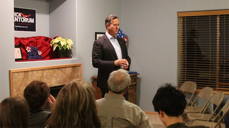 Rick Santorum Speaks at Iowa City Home