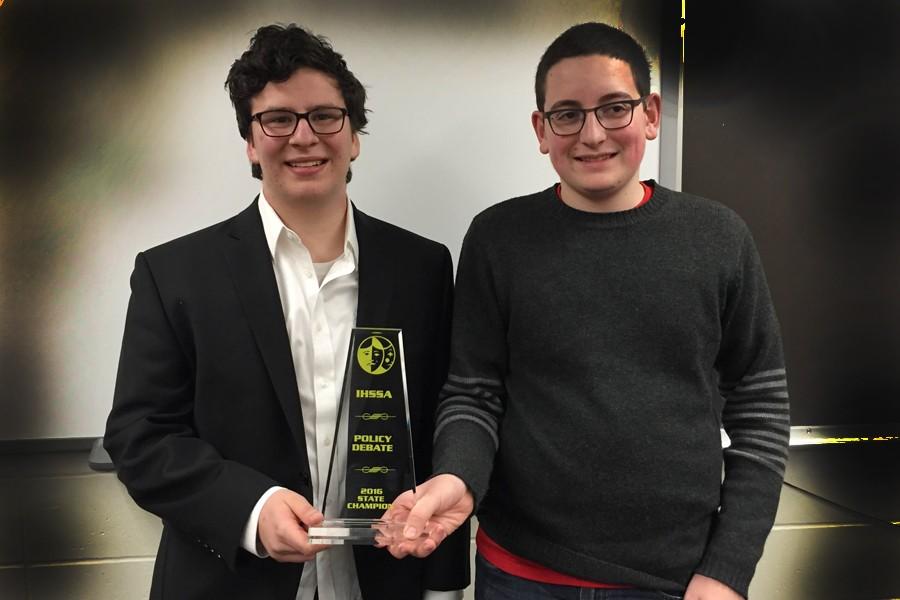 City+High+senior+Joe+Weideman+and+junior+Adam+Zabner+won+the+Iowa+High+School+Speech+Association+state+championship.