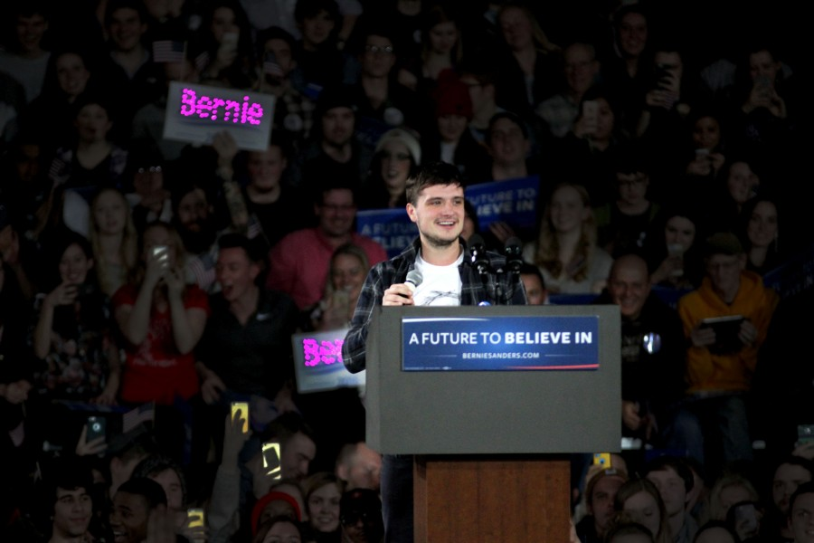 Actor Josh Hutcherson spoke out in support for Sanders.
