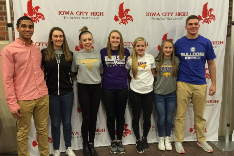Cheer, football, golf, and soccer are represented by City High athletes on signing day.