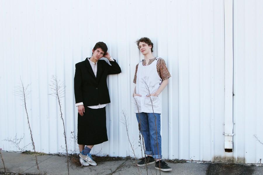 Raz Schlutter '17 and Ellis Fontana '16 pose together.
