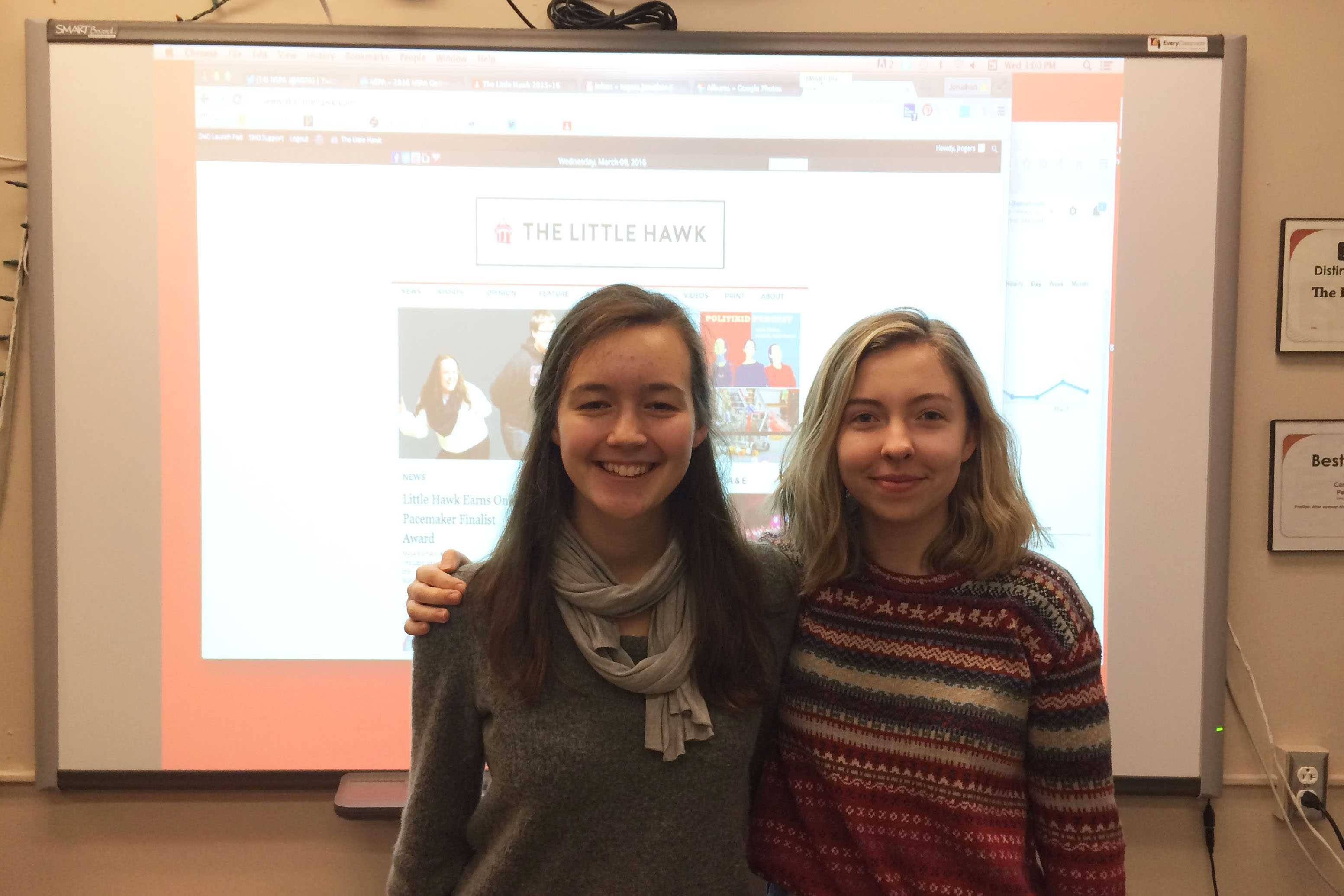 Nova Meurice and Sarah Smith, web editors 2015-2016