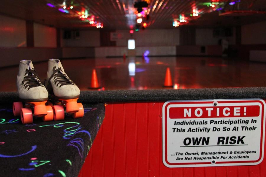 The Wellman Roller Rink features a roller skate floor with disco and neon lights.