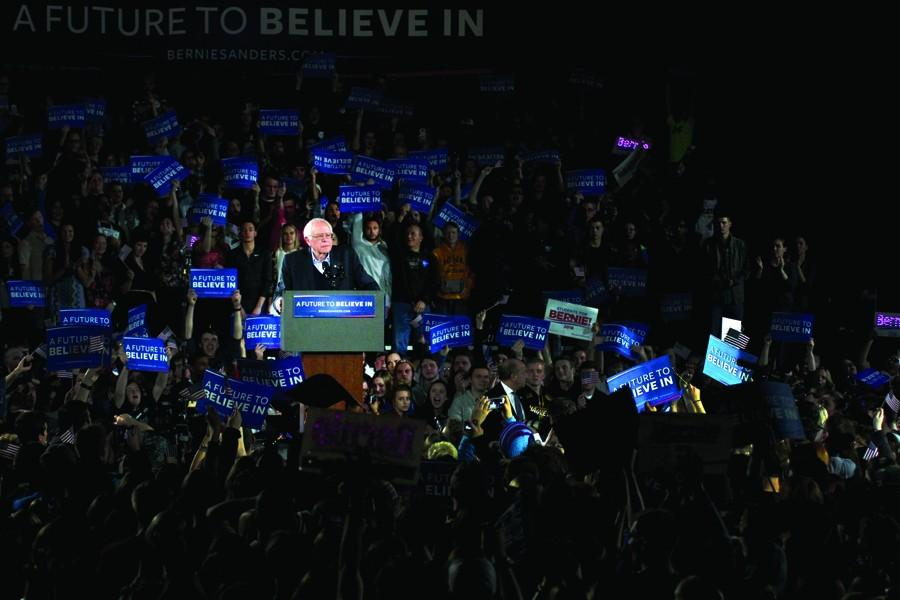 Sen.+Bernie+Sanders%2C+who+won+the+Wisconsin+primary%2C+speaking+in+Iowa+City+prior+to+the+Iowa+Caucus+on+February+1st.
