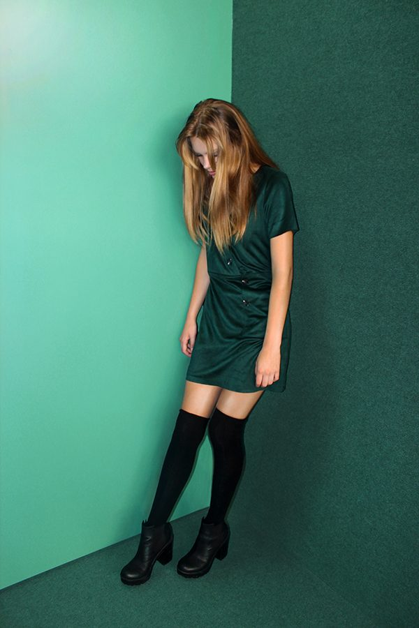 EMERALD: DRESS- Trafaluc. SHOES- Divided. SOCKS- H&M.
