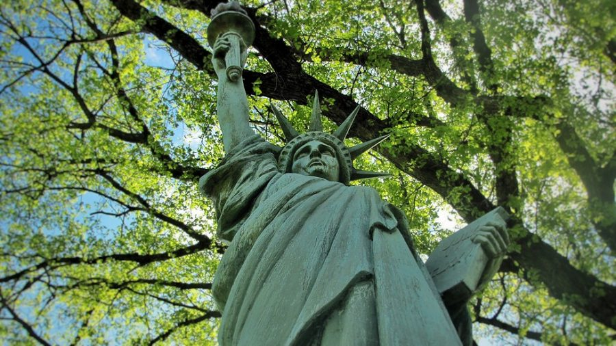 City+High%27s+Statue+of+Liberty+stands+tall+on+the+edge+of+campus