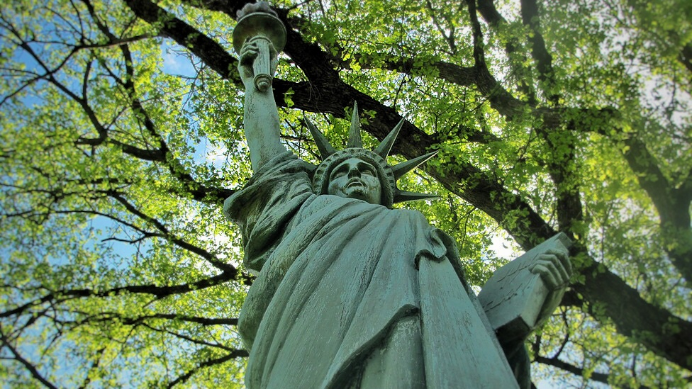 City High's Statue of Liberty stands tall on the edge of campus