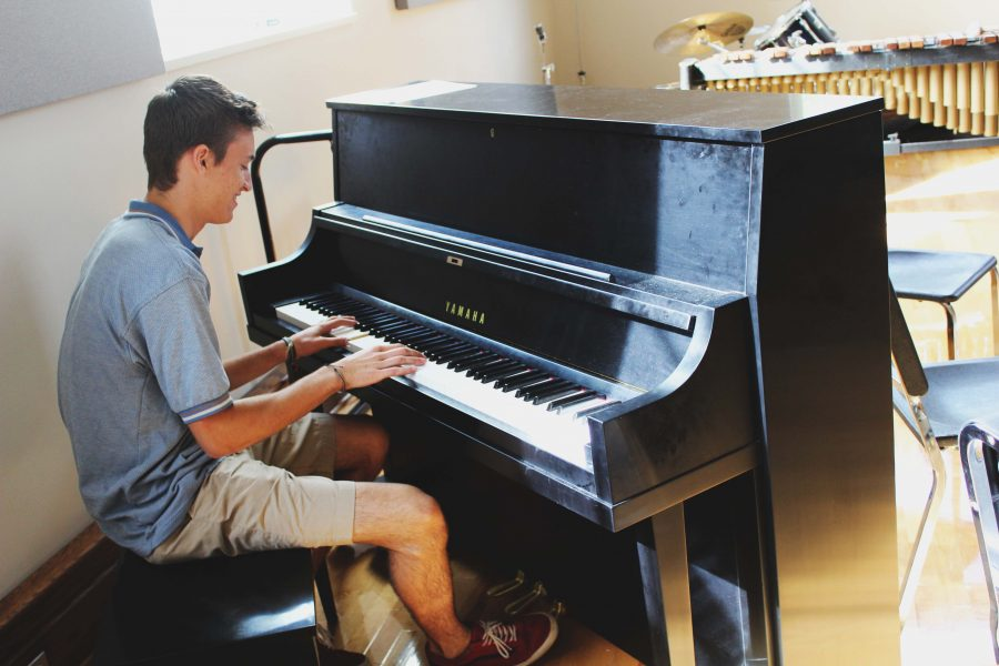 Nick Shymansky '17 plays the piano, a skill he learned in the eighth grade.  He additionally plays the guitar.