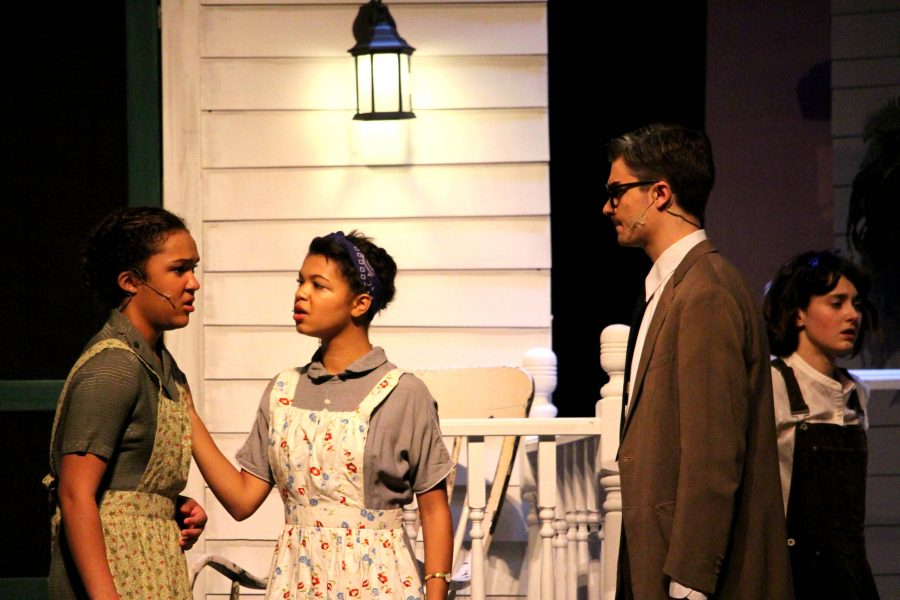 A.J. Bouland plays Atticus Finch in the City High production of To Kill a Mockingbird.