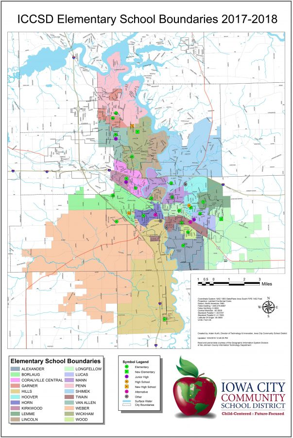 Garner Iowa Map.Iccsd Release New Boundary Maps And Transfer Rules The Little Hawk