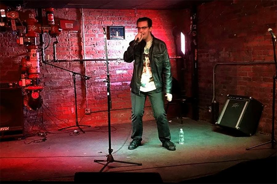 Josh Millsap '19 performs Cindy Lauper's