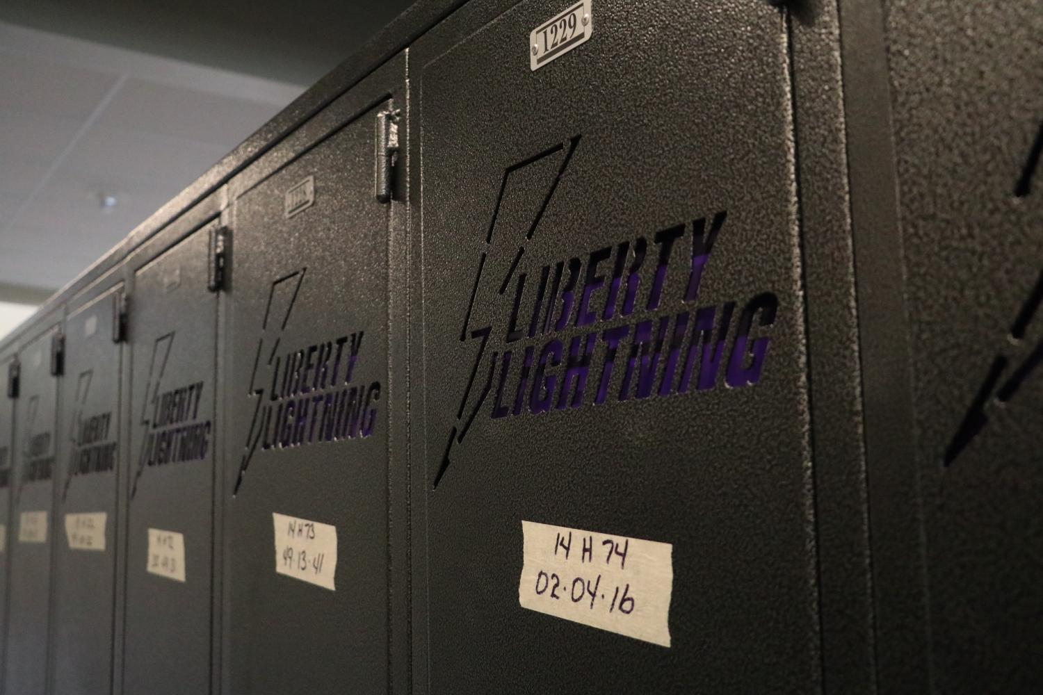 Lockers engraved with