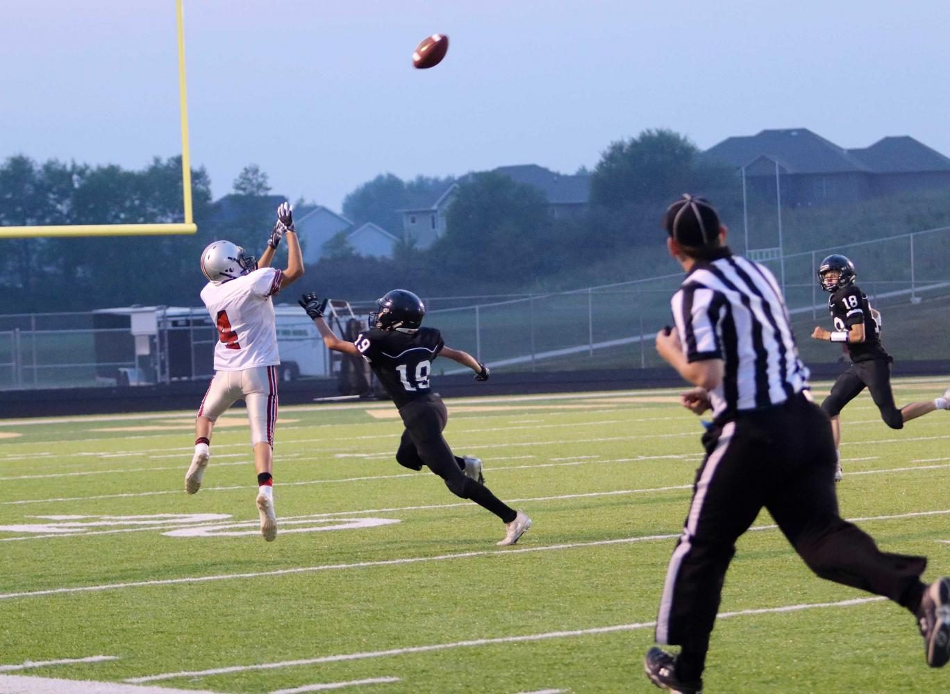 Jacob Means goes up for the catch