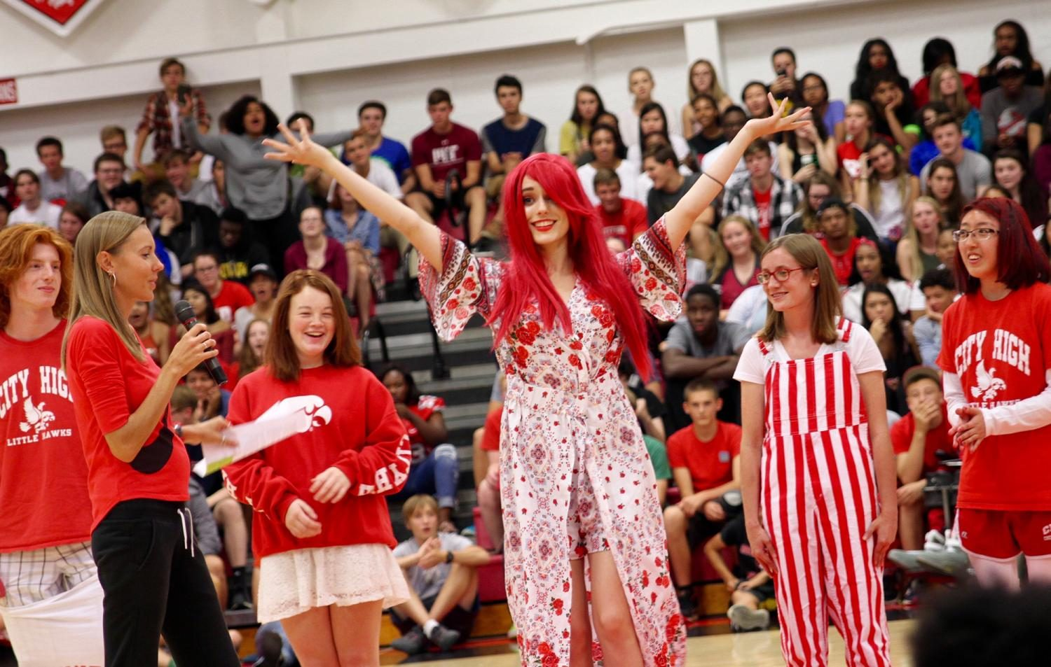 Extreme Red and White Day Pep Rally Unites Students on the Dance Floor