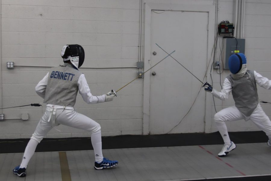 Joseph+Bennett+%2720+duels+with+a+fellow+fencer+at+the+Iowa+City+Fencing+Club+where+they+train.