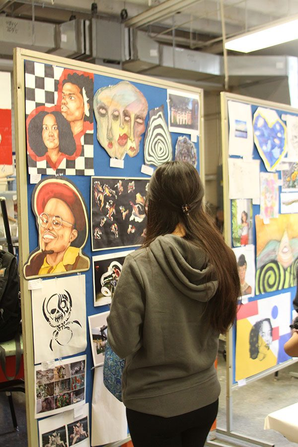 Parents, Community Members, and Bananas Attend Art Show