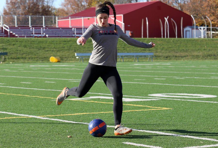 Baird 19 strikes the ball