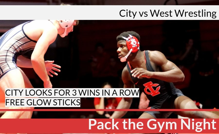 City Prepares to Wrestle West for 'Pack the Gym Night'