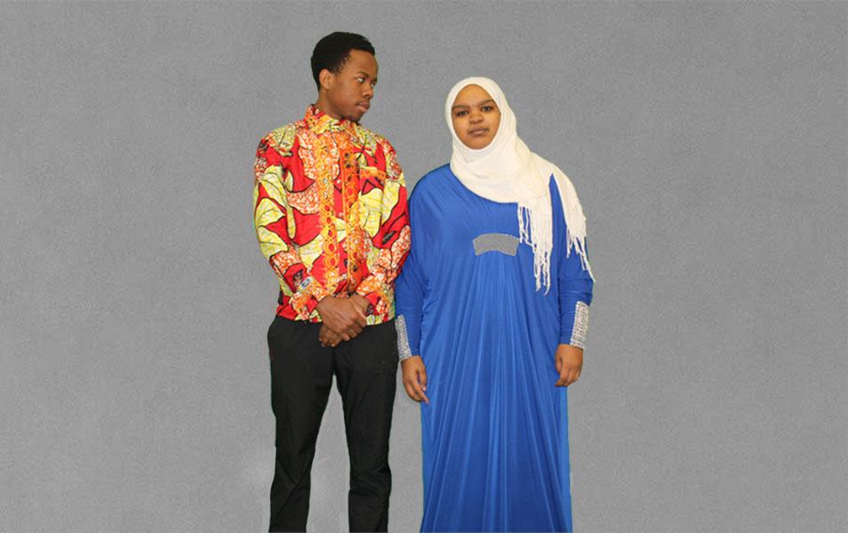 Olivier Shabani '19 (left) and Salwa Sidahmed '19