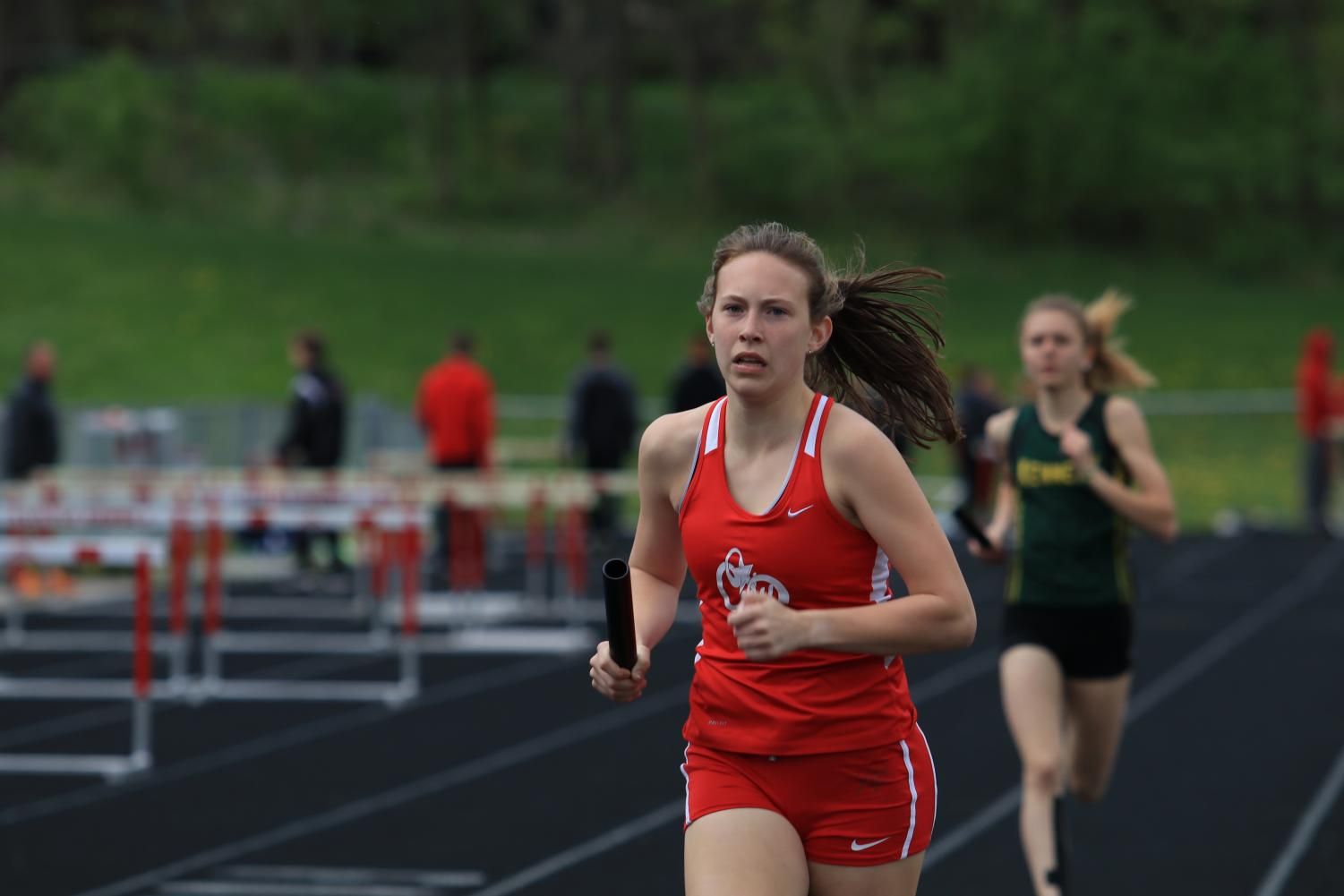 Anna Lindower '19 competes in the 2017 Forward Coleman Relays. She will do so again this Thursday the 19th.